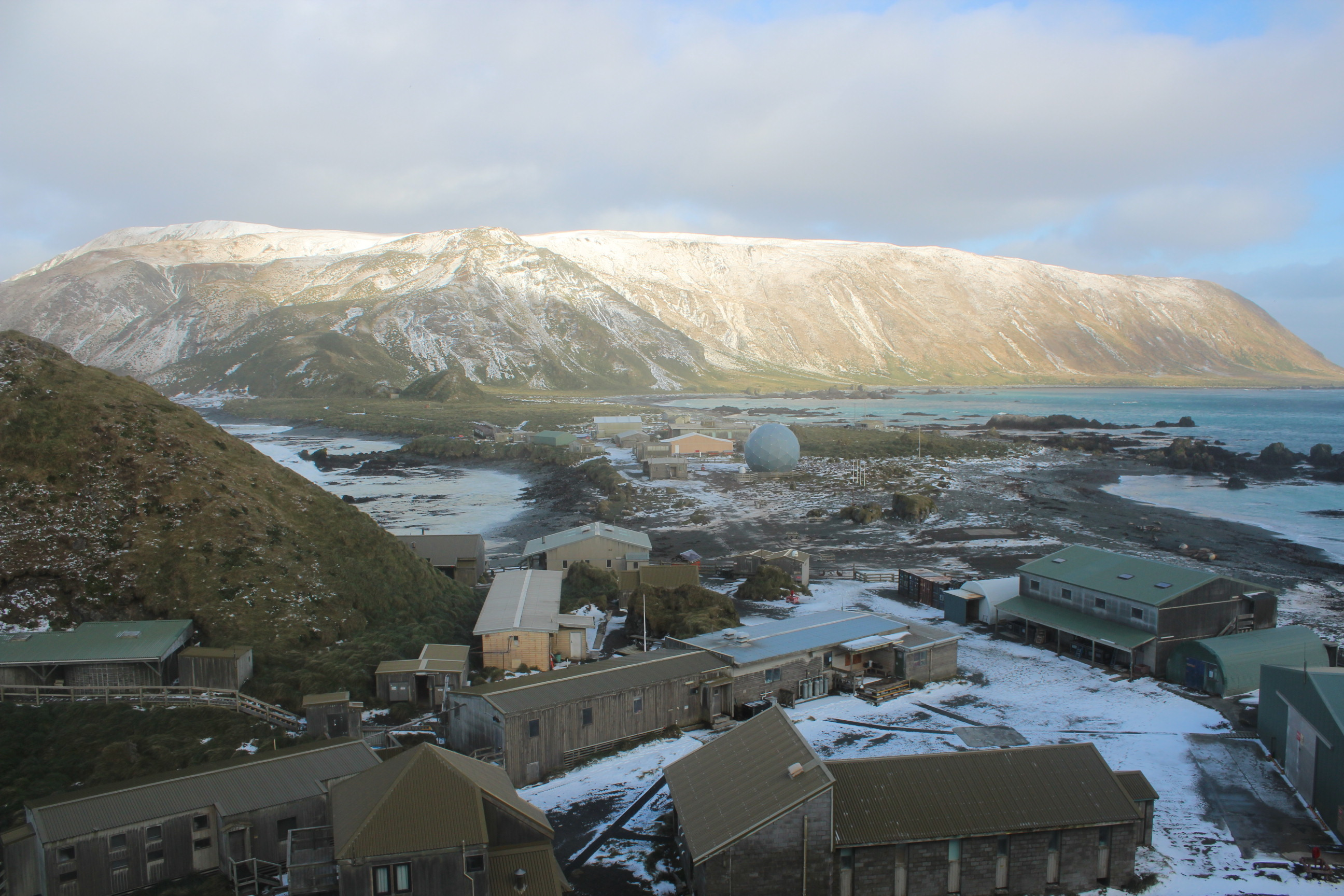 A Snowy Day At Macquarie Island Station